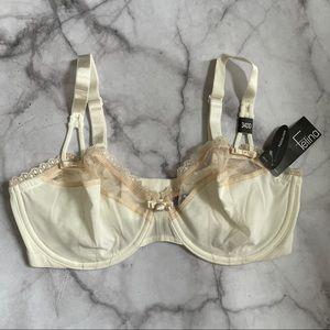 Felina Cream Blush Lace Underwire Bra 34DD